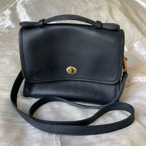 Coach Mini Crossbody - Leather - Black/Gold